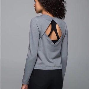 NWT! Lululemon Grey Back Up Long Sleeve Top